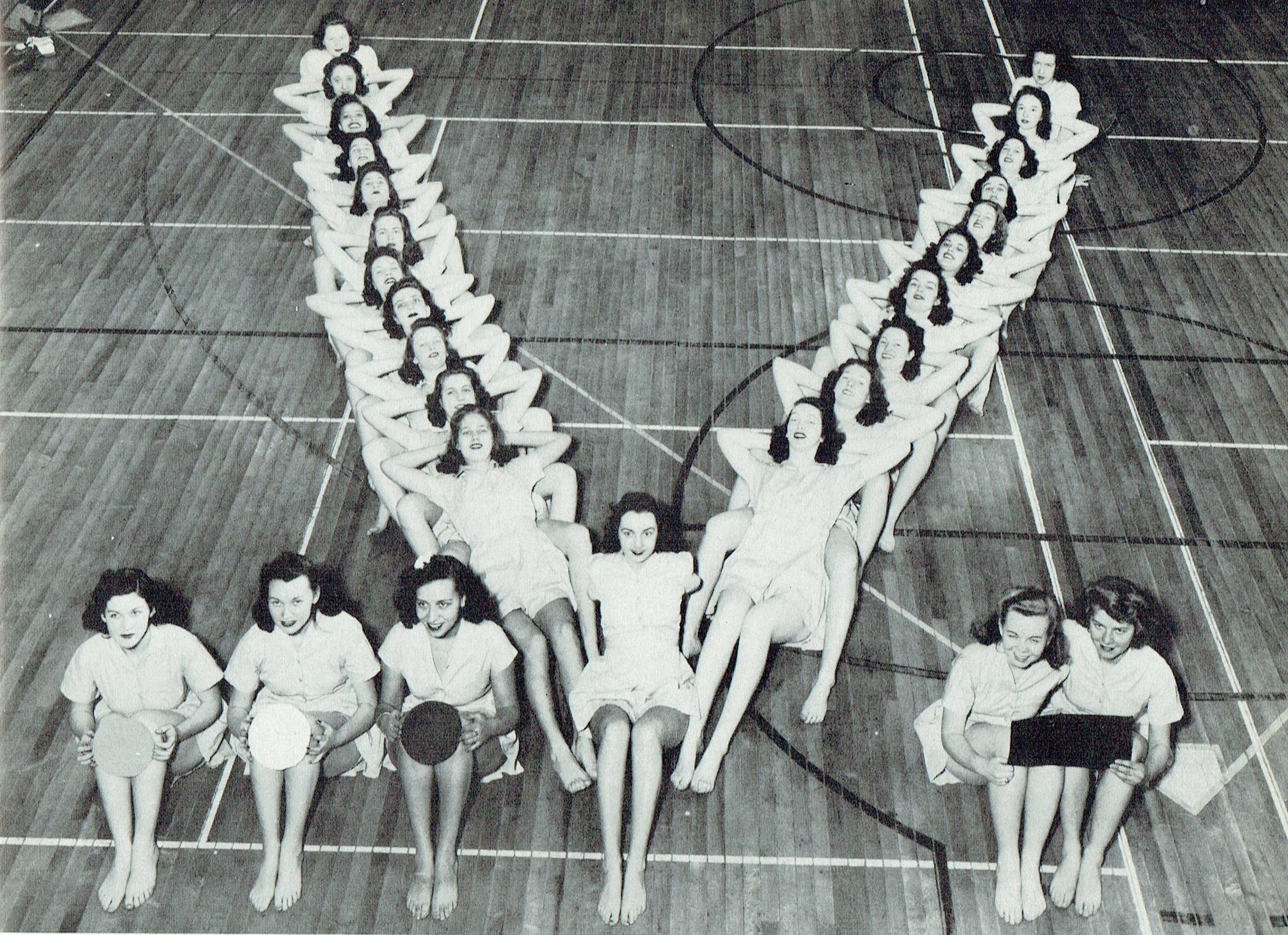 Photo of Dance Study Club from the 1942 Yearbook