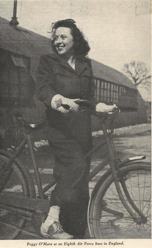 Photo of Margaret O'Mara on a Bicycle