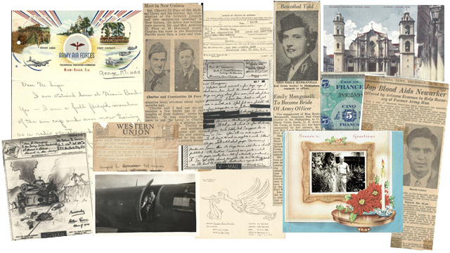 Collage of Scrapbook Letters and Postcards